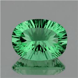Natural ConCave Cut Paraiba Green Fluorite 24x17 MM