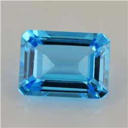 Natural Sky Blue Topaz  9x7 MM - Flawless