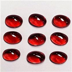Natural Mozambique Garnets 9 Pcs {Flawless-VVS}
