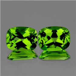 Natural AAA Green Peridot Pair {Flawless-VVS}