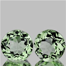 Natural Light Green Tea Amethyst Pair 12.00 MM - FL