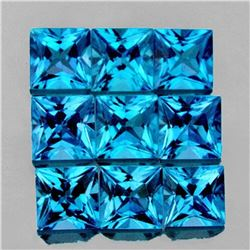 NATURAL SWISS BLUE TOPAZ 9 Pcs[FLAWLESS-VVS]