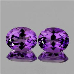 Natural  AAA Purple Amethyst Pair{Flawless-VVS1}
