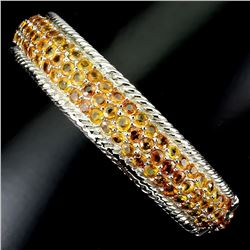 Natural  Orange Sapphire 150 Carats Bangle