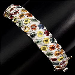 Natural Multi-color Sapphire 111.10 Ct Bangle