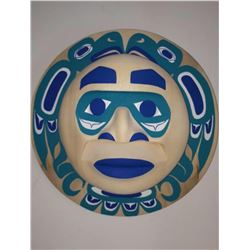 West Coast Native Blue Moon Mask with Eagle Spirit