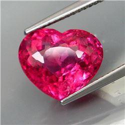 Natural Top Pink Tourmaline Heart 5.59 Ct