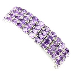 Natural  Rich Purple Amethyst 296.64 Ct Bracelet