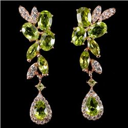 NATURAL AAA APPLE GREEN PERIDOTEarrings