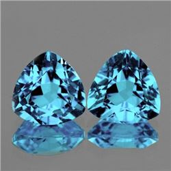 Natural Light Sky Blue Topaz Pair {Flawless-VVS1}
