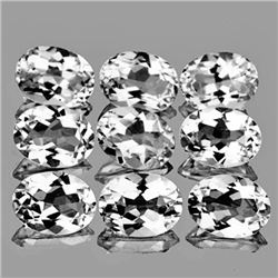 Natural  White Topaz 9 Pcs {Flawless-VVS1}