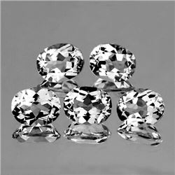 Natural White Topaz 5 Pcs {Flawless-VVS1}