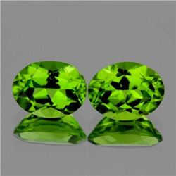 Natural Green Peridot Pair {Flawless-VVS1}