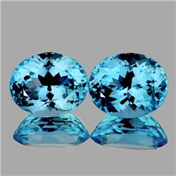NATURAL SKY BLUE TOPAZ PAIR 14X10 MM[FLAWLESS-VVS]