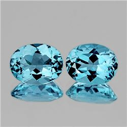 NATURAL SKY BLUE TOPAZ PAIR[FLAWLESS-VVS]