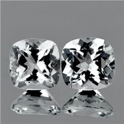 Natural Diamond White Aquamarine Pair - Flawless