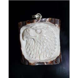 Hand Carved Eagle Pendant