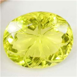 Certified Carved Lemon Citrine 133 Carats