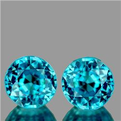 NATURAL AAA BLUE ZIRCON PAIR - FLAWLESS