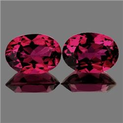 Natural Rhodolite Garnet Pair 7x5 MM - Untreated