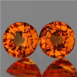 Natural AAA Orange Sapphire Pair{Flawless-VVS1}