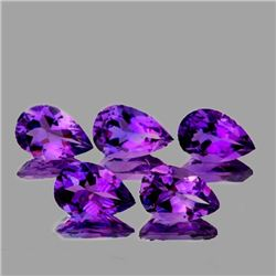 NATURAL INTENSE PURPLE AMETHYST 5 Pcs[FLAWLESS-VVS]