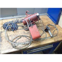 Dayton 1/2 Ton Pneumatic Chain Hoist, M/N: 4ZW57