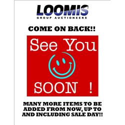 CHECK BACK SOON!! MANY MORE ITEMS COMING