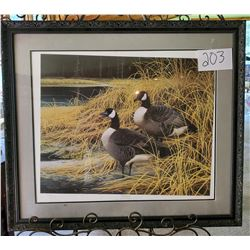 "Ducks Unlimited 587/5050 ""Rendezvous"" by Patricia Woldford Framed 34 1/2""w x 30""h"