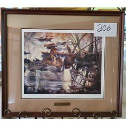"Ducks Unlimited ""Pintail Mirage"" by Heiner Hertling Framed 27""w x 24""h"