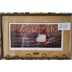 "Ducks Unlimited 132/1500 ""Serenity"" by John Ruthven Framed 30""w x 19""h"