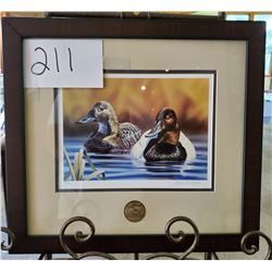 "Ducks Unlimited 948/2600 ""Pair of Ducks"" by Brian Blight Framed 17""w x 15""h"