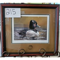 "Ducks unlimited 1622/2000 ""Morning Calm"" by Greg Clair Framed 18 1/2""w x 17""h"