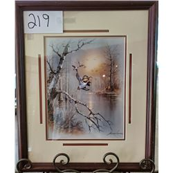 "Ducks in Flight by Andres Qapinas Framed 18""w x 22""h"