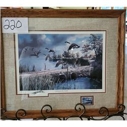 "North American Game Bird Series Commemorative Print ""Ligting to the North"" by Ken Zylla Framed 24 1/"