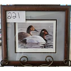 "Ducks Unlimited 191/2000 ""Royal Portrait"" by Gregory Clair Framed 17 1/2""w x 15 1/2""h"