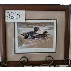 "Ducks Unlimited 623/2000 ""In the Shallows"" by Tim Donovan Framed 17 1/2""w x 15 1/2""h"