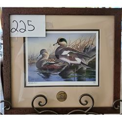"Ducks Unlimited 1675/1750 ""Ducks at Rest on Water"" by Mike Brown Framed 16""w x 15""h"