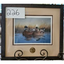 "Ducks Unlimited 559/2000 ""Ducks on Water"" by Mike Brown Framed 16""w x 15""h"