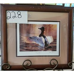 "Ducks Unlimited 561/2900 ""Autumn Majesty"" by Adam Grimm Framed 17 1/2""w x 15 1/2""h"