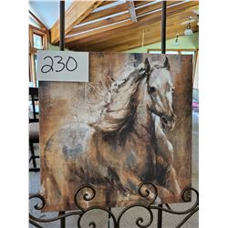 Painting on canvas Galloping White Horse