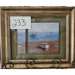 """Sailboats on Water by Rhyam Framed 18""""w x 15""""h"""