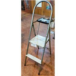"Folding Metal 2 step ladder - approx 52""h"