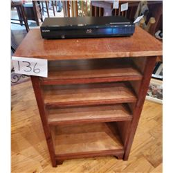 """Sony Blu Ray Disk with cabinet - approx 16""""d x 24""""w x 32""""h - 4 shelves - pine"""