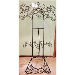 "Ornamental metal Easel Burnished Bronze Finish - approx 36""w x 72""h x 29""base"