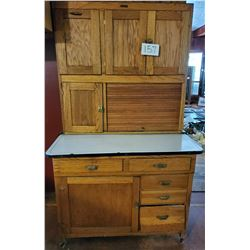 "The I-XL Furniture Company - Goshen, Indiana - floor bin cabinet 41""w x 71""h x 26"" base depth - 5 dr"