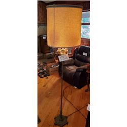 "Floor Lamp with Patented for Rembrandt 7932 - cast iron base - approx 69""h x 10""base"