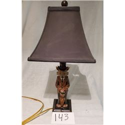 Beautiful Lamp with Fox holding Umbrella - approx
