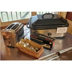 4pc Kitchen lot Toaster (defrost, reheat, bagel) Bella Cucina Electric Roaster - Toastmast Electric