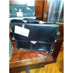 NEW LEATHER DUCKS UNLIMITED BRIEF CASE